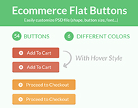 Ecommerce Flat Buttons