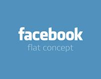 Facebook. Flat concept