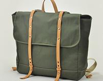 Handmade canvas backpack