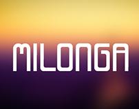 Milonga font