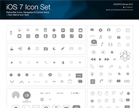 iOS 7 Vector Icons: Natives and Basics