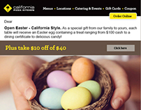 California Pizza Kitchen Easter E-Blast