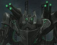 Sci-Fi Warrior Mech