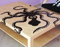 DIY Minoan Octopus table