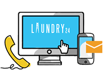 Laundry24 website and illustration set