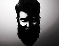 Man in beard, beard in man