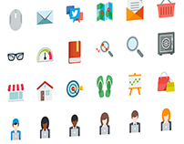 78 Flat Icons