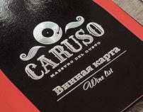 Caruso restaurant identity