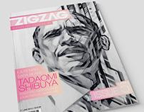 Zig zag Magazine spread