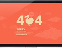 404 - Not Found / Flat Design