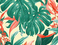 Tropical Pattern - Feat. Monstera Leafs
