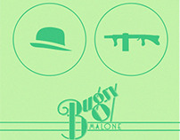 Bugsy Malone event advertisement