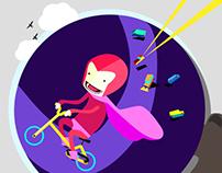 superheroes on bikes