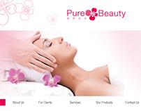 Web Design for Pure Beauty & Spa