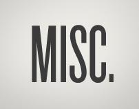letterings, t-shirts & miscellanea