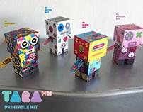 TaraBots Paper Toy DIY Robots Craft Kit