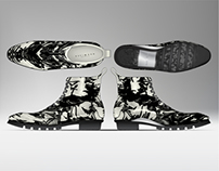 Illustrator and 3D CAD - Men's Luxury Hiking Boot
