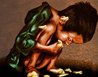 """""""Miseria""""  Ilustración Digital"""