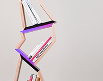 Chopped tree bookshelf