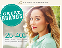 Lauren Conrad Great Brands Email Campaign (Spring 2013)