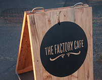 The Factory Cafe - Street Sign