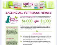 Spring Naturals Spring Into Action Campaign