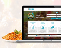 restaurant app - web page