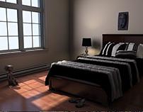 3d Architecture illustration - interiors