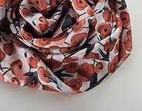 Nenäliina - Illustrated Scarves