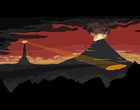 Saurons Watchful Gaze poster