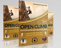 Climb Sport Flyer Template