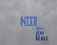 'I need a dollar' by Aloe Blacc || Kinetic Type