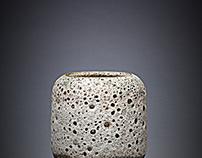 Moon vase:lava vase