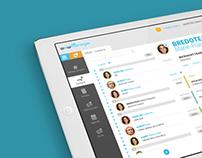 Sales management app design concept