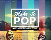 Make it pop photoshop actions