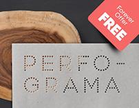Perfograma free font
