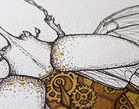 Steampunk rhinoceros beetle