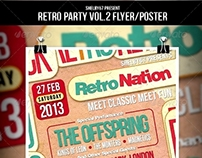 Retro Party Flyer / Poster Vol.2