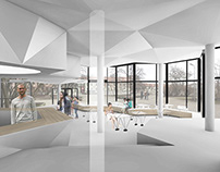 "Bar- Restaurant ""Flower Pavilion"" interior concept"