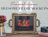 Framelicious! 40 Frame Mockups