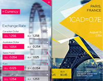 UX UI - Travel Currency Rate Designs