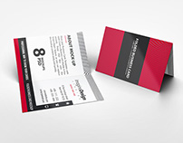 Folded Business Card Mockup V2