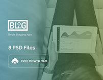Blog Apps - 8 Free PSD Download
