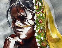 Protraits Of India Watercolour