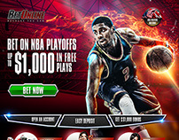 Sports Betting Landing Page Designs