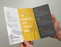 Minimal Corporate Trifold Brochure