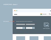 RedBus Website Wireframes
