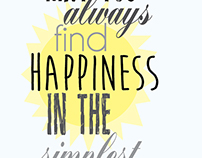 May you always find happiness in the simplest of things