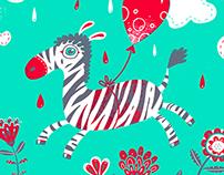 Zippy Zebra screenprint