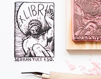 Hercules, Handmade Ex Libris Stamp